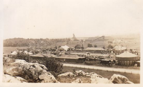 View of the Midway From Nearby Hill - Masse Mine in Background